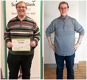 Jonatan har tabt sig 50 kilo