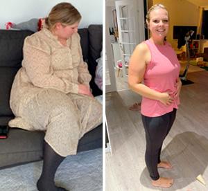 Louise har tabt sig 18,5 kilo